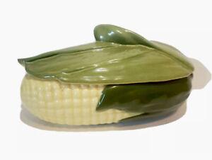 Vintage Shawnee Corn King Pottery #74 Casserole Dish W/ Lid Circa 1940's