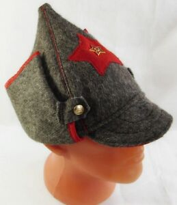 eacd738a5 Details about Russian Red Army Hat Old Style Wool Budenovka USSR Metal  Badge Great Quality New