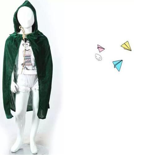 Unisex Children Kids Halloween Cloak Cape Hooded Halloween Costume 3colors 8C