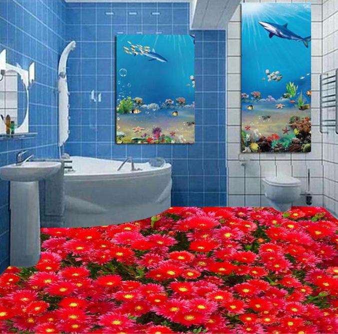 3D ROT Flower Art 768 Floor WallPaper Murals Wall Print Decal 5D AU Lemon