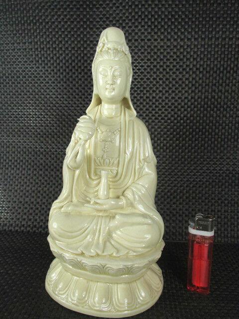 Dondon Guan Yin porcelaine déesse avec du Bouddha Nectar de la vie eternelle Bouddha du signé 0aca6e