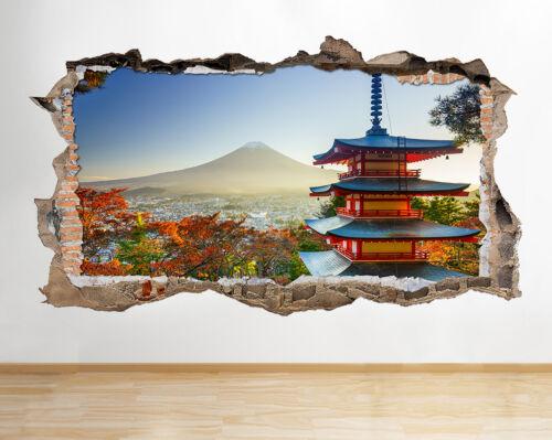 S415 Castillo Japonés Monte Fuji rompía la etiqueta de la pared 3D Art Stickers Vinyl Habitación