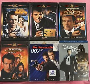 6-James-Bond-007-DVDs-Sean-Connery-Roger-Moore-Pierce-Brosnan-amp-Daniel-Craig