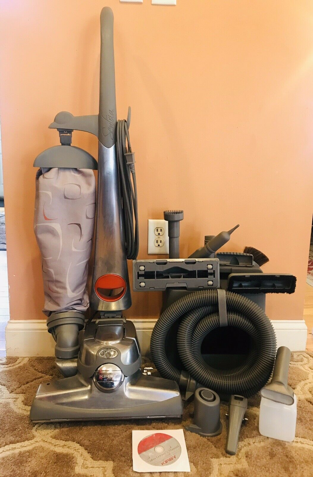 Kirby Sentria Bagged Upright Vacuum Cleaner w  Complete Attachment Set