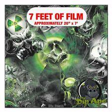 Hydrographic Film Bio Death Zombies Hydro Dipping 7 X 20 Hydro Dip Skulls