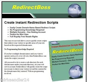 REDIRECT-BOSS-UMLEITUNGS-SCRIPTS-DOMAIN-NAMEN-ERST-ENGLISCHE-SOFTWARE-E-LIZENZ