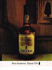 PUBLICITE ADVERTISING 014   1981    PORTO SANDEMAN  RUBY 2