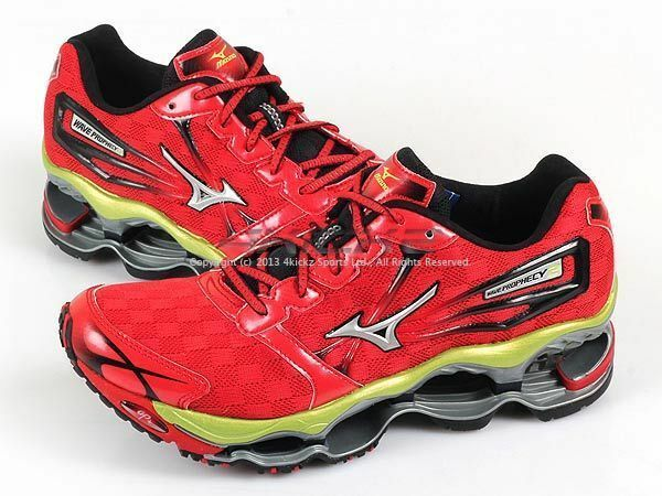 Mizuno Wave Prophecy ∞ 2 Red/Silver/Green Apple Lightweight Running 8KN-31601