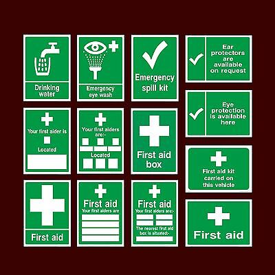MISC7 Multiple Sizes Available First Aid Box Plastic Sign or Sticker