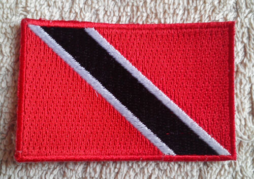 TRINIDAD AND TOBAGO FLAG PATCH Embroidered Badge Iron or Sew on 3.8cm x 6cm NEW