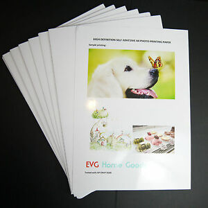 10-x-A4-Premium-Glossy-HD-Self-Adhesive-Sticky-Photo-Printing-Paper-Inkjet-Laser