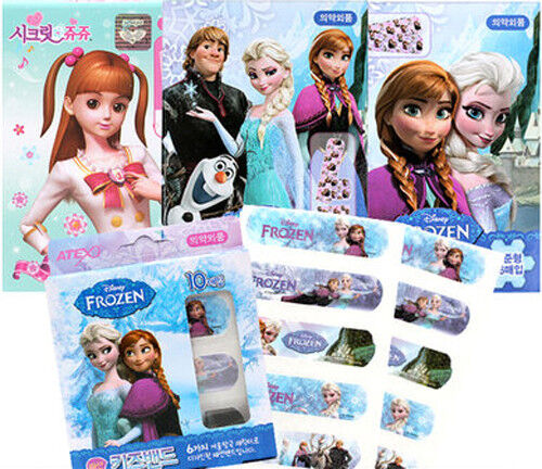 Band-Aid Animation Frozen Bandages Plasters Medicated Pad Kids Disney Princess