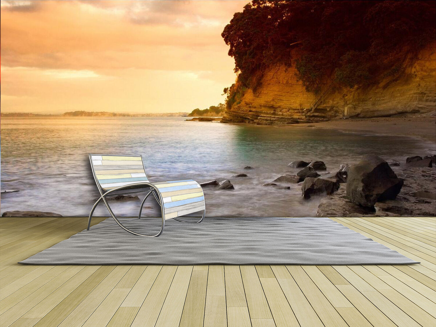 3D Afterglow Sea Stone 929 Wall Paper Wall Print Decal Wall Deco Indoor Wall