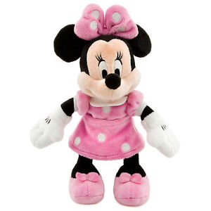 Disney-Parks-Minnie-Mouse-Pink-Polka-Dot-Plush-Toy-9-034-Soft-Doll-Girls-Gift-NEW