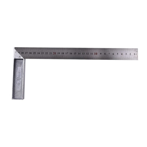1x Stainless Steel 15x30cm 90 Degree Angle Metric Try Mitre Square Ruler 0L
