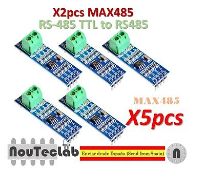 5Pcs 5V MAX485 TTL to RS485 Converter Module Board Fit for Arduino Power Module