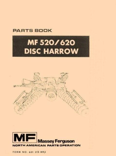 Massey Ferguson Mf 520 620 Disc Harrow Parts Manual Ebay