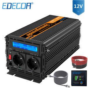 EDECOA-Pur-Sinus-Convertisseur-12V-220V-1000W-2000W-Onduleur-transformer-LCD-USB