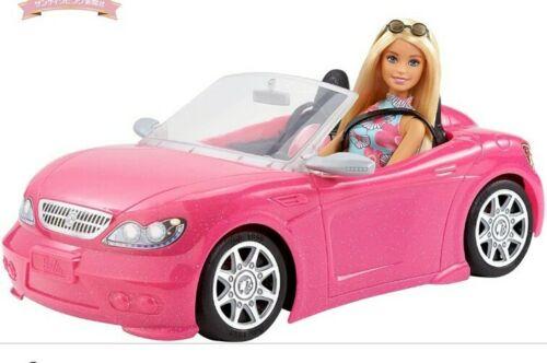 Barbie Rosa Glitter auto convertibile con Barbie doll Nuovo con Scatola