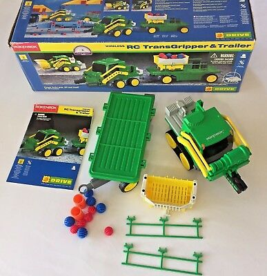 Rokenbok RC TransGripper and Trailer Set 17 Pc Complete Box 04241 Building Toy