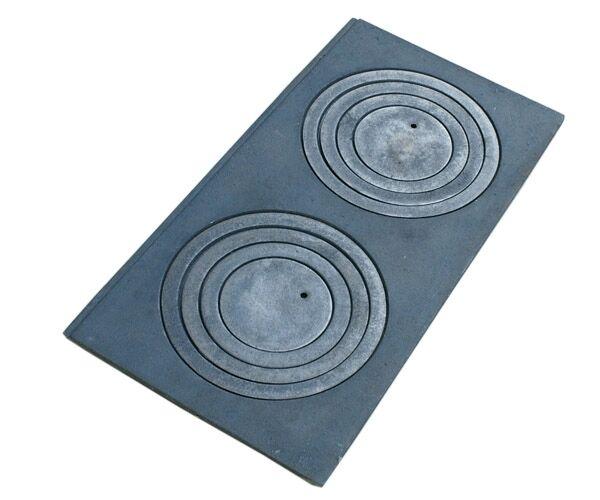Placa de molde al horno hierro fundido 60 62 63 65 68 70... 2-agujero notas cocina sin reborde