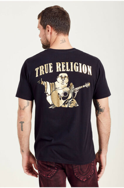 3ed2936b True Religion Gold Big Buddha Crew Neck T-shirt in Black Sz.xl for ...