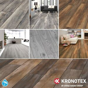Krono 12mm Laminate Flooring Textured Rustic Oak Wood Drop