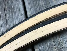 VINTAGE BIKE BICYCLE MICHELIN TRACER TIRES 700 x 20c 20-622 NOS ROAD FRANCE TAN