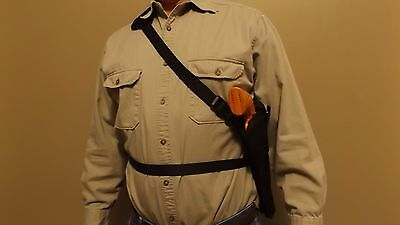"""Vertical DOUBLE Shoulder Holster PIETTA 1858 REMINGTON NEW ARMY SHERIFF 5-1//2/"""""""