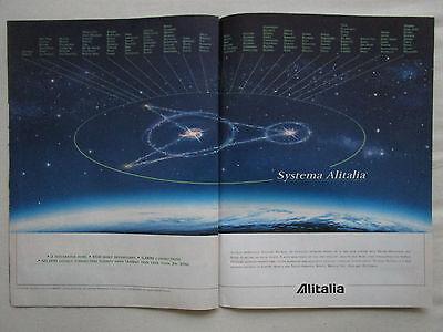 1998-1999 PUB ALITALIA TECHNICAL OPERATIONS LEONARDO DA VINCI AIRPORT ROME AD