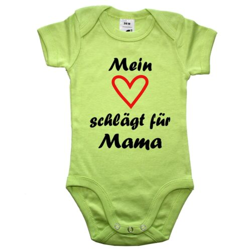 Mein Herz schlägt für Opa Papa Mama Oma Tante Onkel ODER Wunschname Babybody
