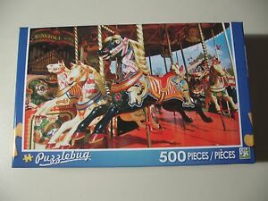 Brand New /& Sealed Puzzlebug 500 pc Puzzle Carousel Horse