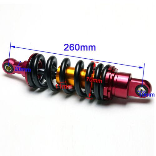 "260mm 10/"" Motorcycle ATV Scooter Shock Absorber Rear Suspension Dirt Pit Bike"