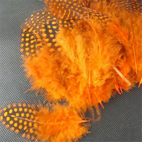50Pcs//Lot Pearl Pheasant Feathers 5-10cm Natural Spotted Chicken Feathers DIY