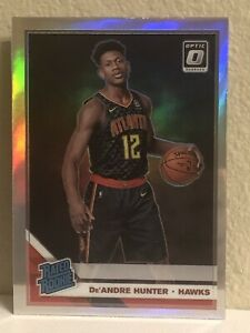 2019-20-Donruss-Optic-198-De-039-Andre-Hunter-SILVER-HOLO-PRIZM-Rated-Rookie-RC