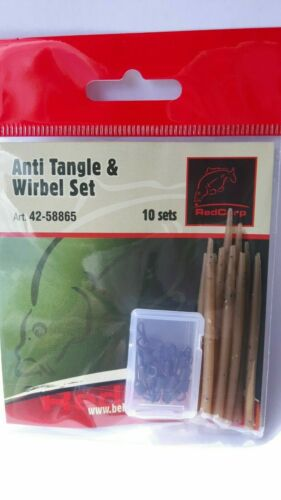 RIGS Carp Accessories 20 Pcs Anti Tangle Sleeves Quick-Change Eddy system