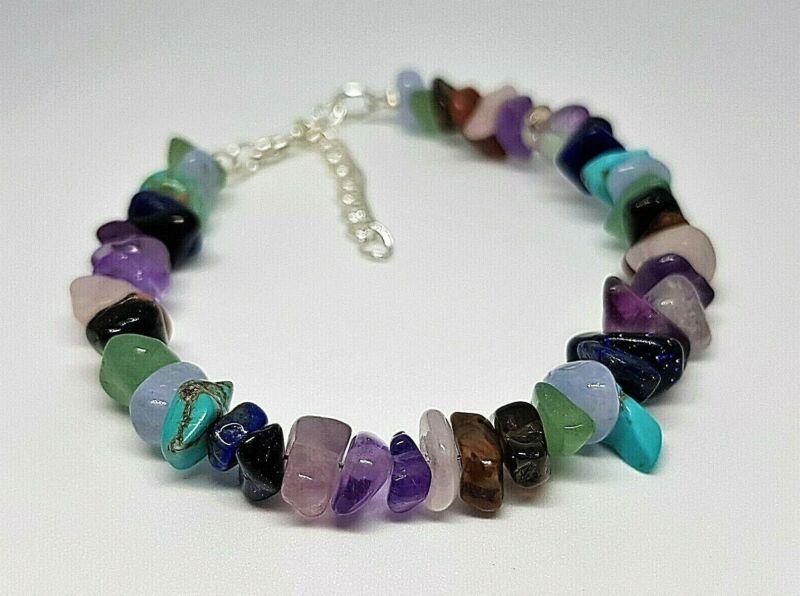 Headache & Migraine Healing Chip Bead Mental Health Chakra Gemstone Bracelet