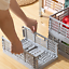 Folding Collapsible Plastic Storage Crate Box Stackable Home Kitchen Baskets Box