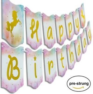 """Happy Birthday Unicorn Banner by PRAITY 