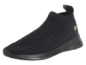 Lacoste-LT-FIT-SOCK-319-1-Mens-Textile-Casual-Black-Sneakers-Shoes-38SMA0001-02H