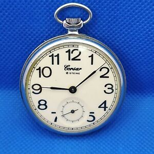 VINTAGE soviet pocket watch *MOLNIJA CORSAR* MOLNIYA made in USSR mechanical