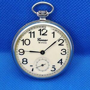 VINTAGE soviet pocket watch *MOLNIJA CORSAR* MOLNIYA made in USSR mechanical