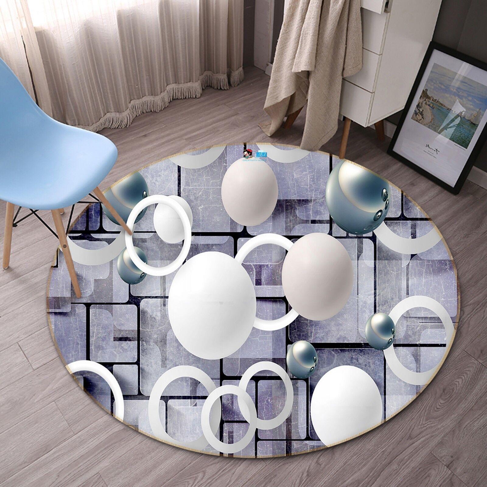3D 3D 3D Floating Ring Ball 8 Non Slip Rug Room Mat Round Quality elegant photo carpet 25d03c