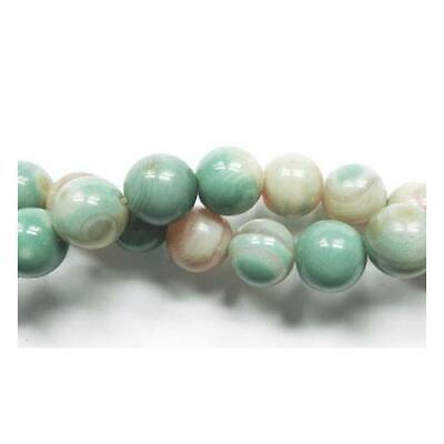 Amazonite Rond Perles 6mm Multicolore 60 Pces Pierres Semi-Précieuses Artisanat