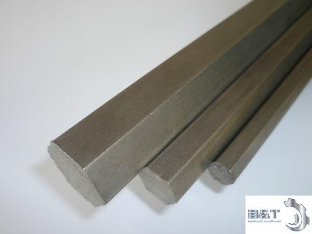 VA Edelstahl Sechskant blank 1.4305 SW 19 mm Länge wählbar Bohr+Drehqualität