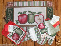 Placemat Set Country Apple Kitchen Dining Table Tapestry Potholder Towel