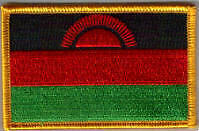 Malawi Country Flag Embroidered Patch T8