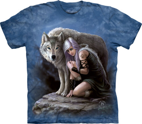 The Mountain Stokes Wolven Protector Animal Wolves Wolf Adult T Tee Shirt 104992