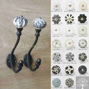 Polka Dots Round Coloured Ceramic Coat Hooks Racks