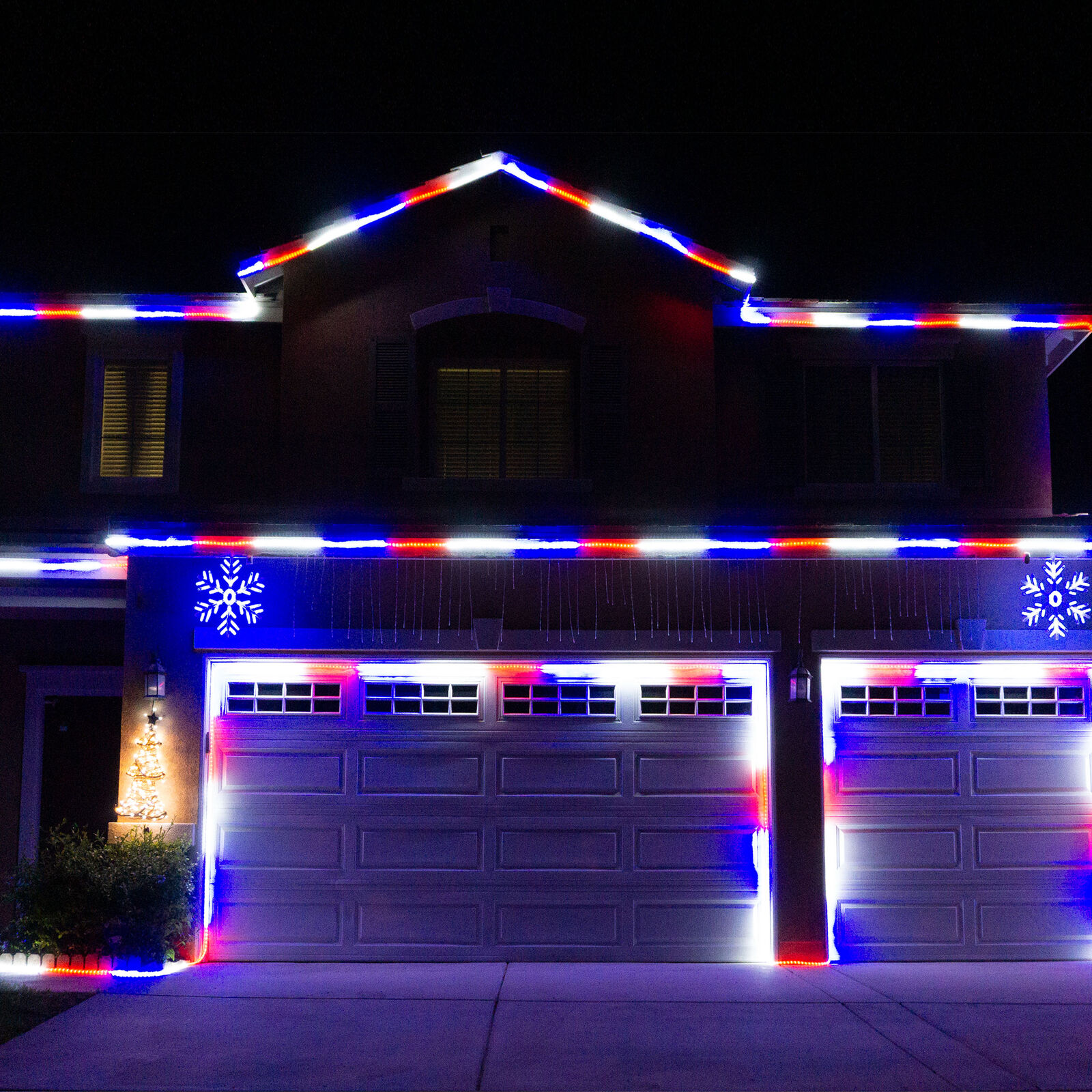 Details About 100 Rwb Rope Led Lights Indoor Outdoor Party Wedding Holiday Christmas New Year